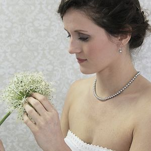 Alexia Grey Pearl And Sterling Silver Necklace - flower girl jewellery