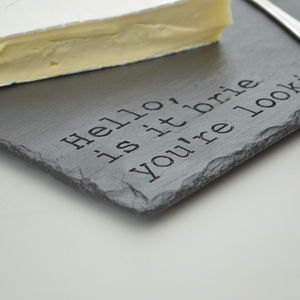 Fun Engraved Slate Cheese Board