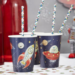 Spaceship Party Paper Cups