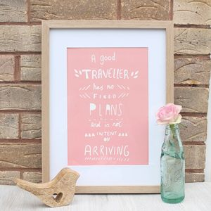 Inspirational Travel Quote Print