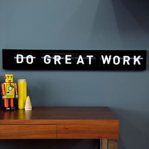 Black Cinema Sign With A To Z Cards - living room styling