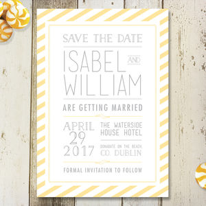 Striped Type Save The Date