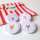 Party Animals Drinks Badges Set Of Four