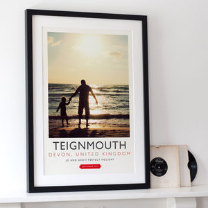 Personalised Vintage Travel Poster Print - art & pictures