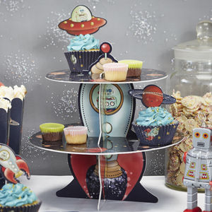 Rocket Ship Cake Stand - dining room