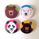Bear Badges Set Of Four