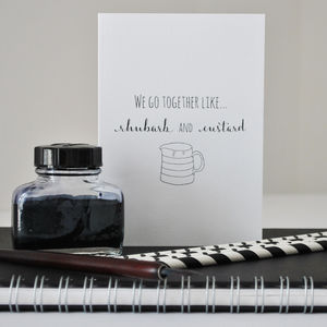 'We Go Together Like' Card - anniversary cards