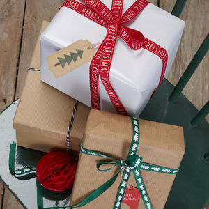 Festive Christmas Ribbons - wrapping paper