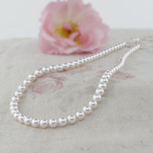 Alexia Ivory Pearl Necklace And Bracelet Set - wedding fashion