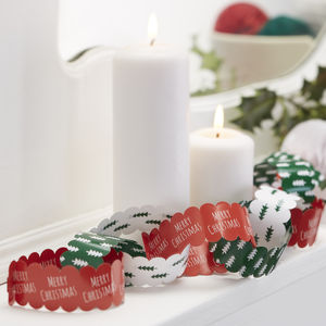 Ten Metres Festive Christmas Paper Chains - garlands & bunting