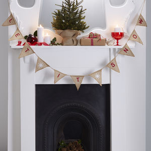 Christmas 'Let it Snow' Hessian Bunting
