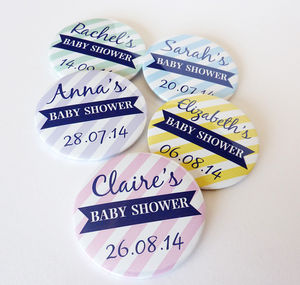 Baby Shower Personalised Badge - baby shower decorations