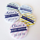 Baby Shower Personalised Badge