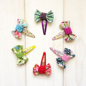 Bow Hairclip   Liberty Fabric And Knit