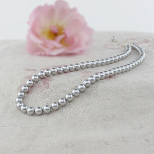 Alexia Grey Pearl Necklace And Bracelet Set - wedding jewellery