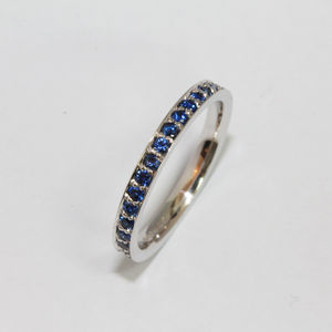 Blue Sapphire Eternity Ring - rings