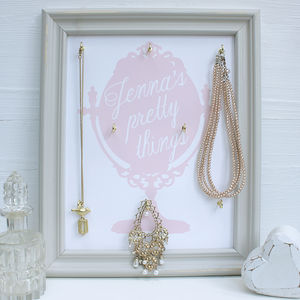 Personalised Framed Jewellery Organiser - children's room
