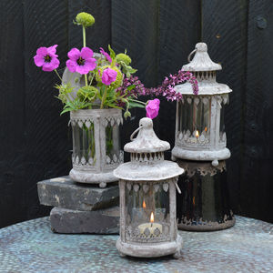 Aged Metal Lanterns - lights & lanterns