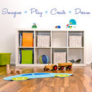 'Imagine, Play, Create, Dream' Quote Wall Sticker