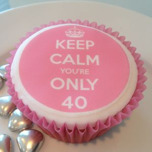 Keep Calm Birthday Cupcake Toppers