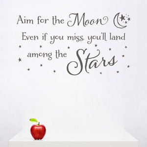 'Aim For The Moon' Children's Wall Sticker - wall stickers