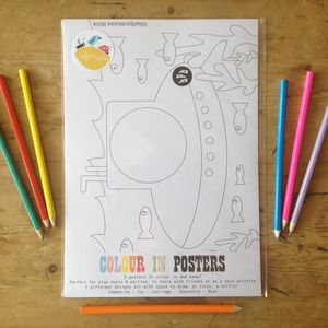 'Stick A Selfie' Colour In Posters For Children