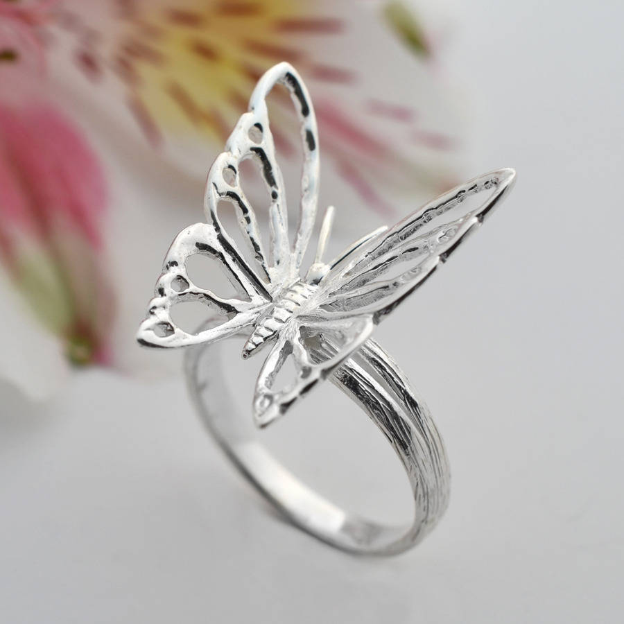 sterling silver butterfly ring by martha jackson sterling