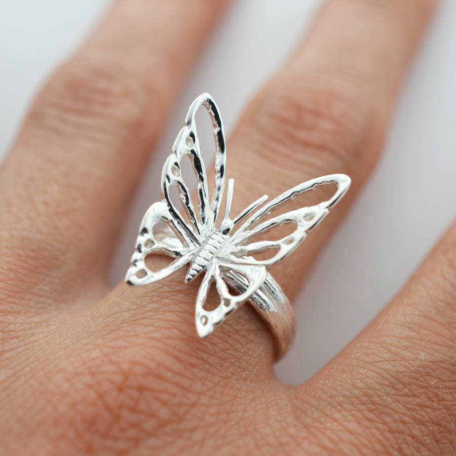 Sterling silver butterfly ring by martha jackson sterling for The sterling