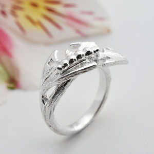 Sterling Silver Hungry Caterpillar Ring - rings