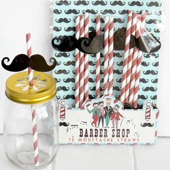 Fun Moustache Straws