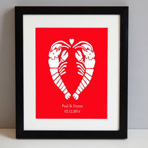 Personalised Love Lobsters - art & pictures