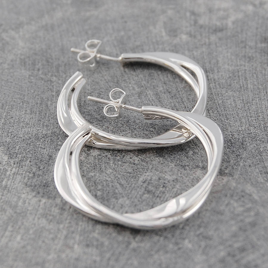 links en earring hires london hoop eu sterling silver of sweetie earrings jewellery