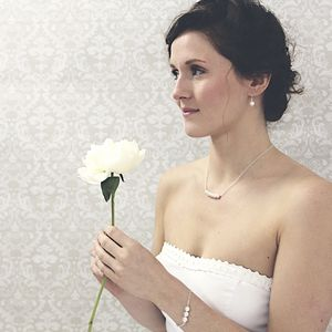 Beatrice Ivory Pearl And Silver Necklace - bridesmaid jewellery