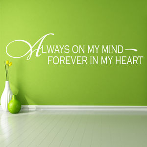 'Always On My Mind' Wall Sticker