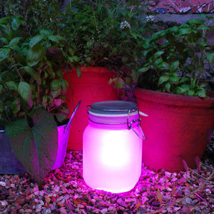 Pink Sun Jar - lights & lanterns
