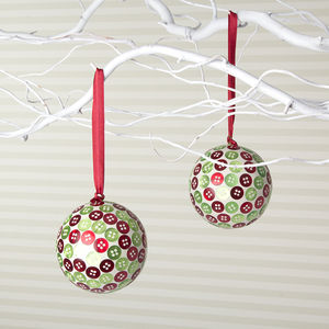 Button Christmas Tree Bauble