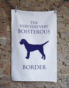 Border Terrier Tea Towel - tea towels