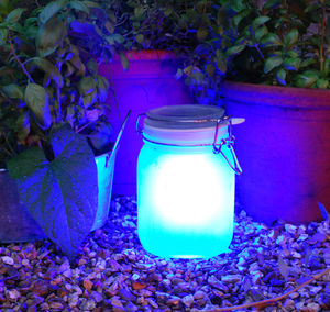 Blue Sun Jar - lights & lanterns
