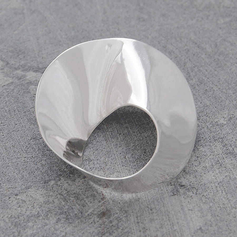 Contemporary Silvers: Sterling Silver Wave Brooch By Otis Jaxon Silver Jewellery