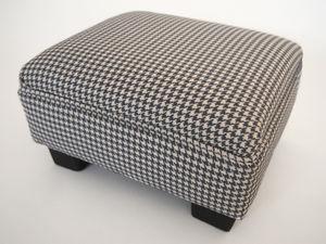 Houndstooth Footstool - furniture