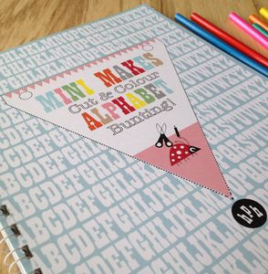 Mini Makes Alphabet Bunting Craft Activity Book - children's room