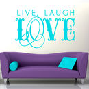 Large Swirling 'Live Laugh Love' Wall Sticker