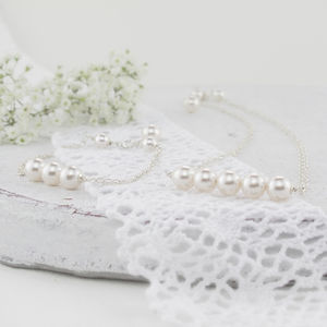 Beatrice Ivory Pearl Set - necklaces & pendants