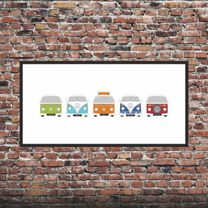 Personalised Campervan Print X5 - posters & prints