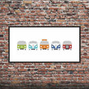 Personalised Campervan Print X5