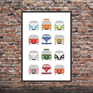 Personalised Campervan Print X12