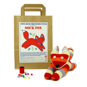Sock Fox Craft Kit - toys & games