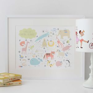 Personalised Animal Alphabet Print - view all sale items