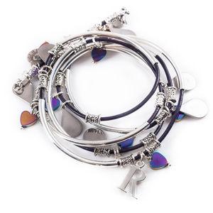 Heart Drop Noodle Bracelet - bracelets & bangles