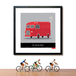Tour De France Broom Wagon Art Print